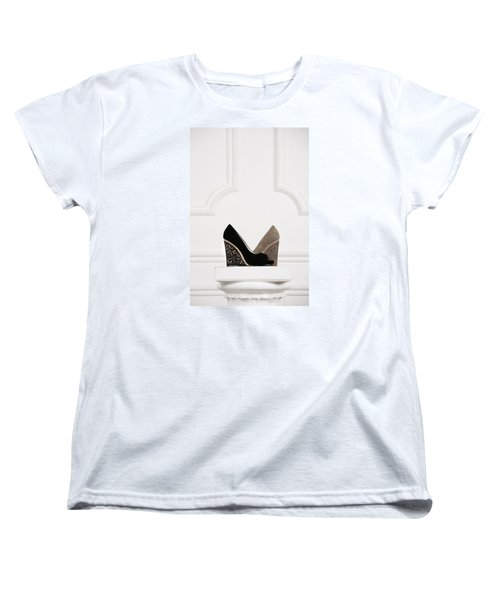 Women's T-Shirt (Standard Cut) featuring the photograph Female Shoes by Andrey  Godyaykin