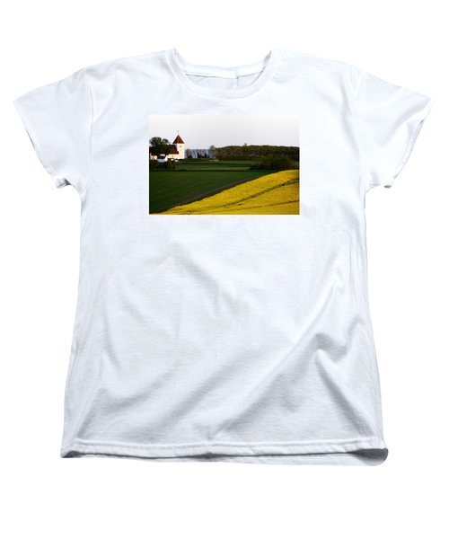 Femoe Fields And Church Women's T-Shirt (Standard Cut) by Eric Nielsen