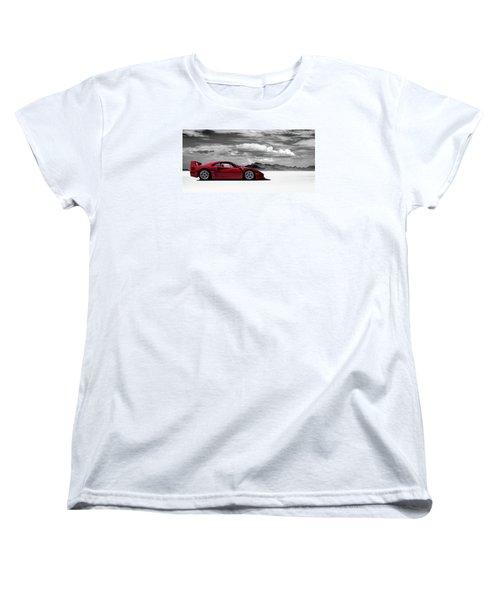 Ferrari F40 Women's T-Shirt (Standard Cut) by Douglas Pittman