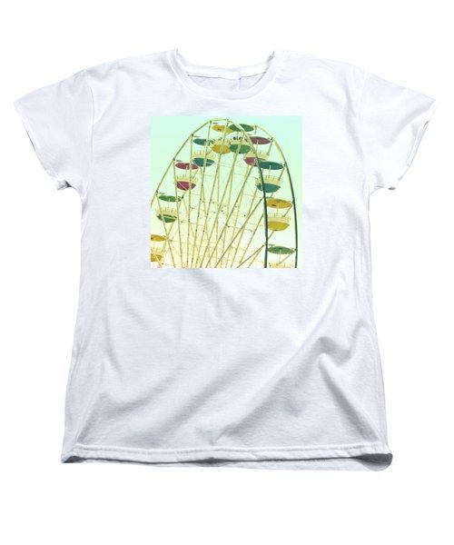 Ferris Wheel Women's T-Shirt (Standard Cut) by Valerie Reeves