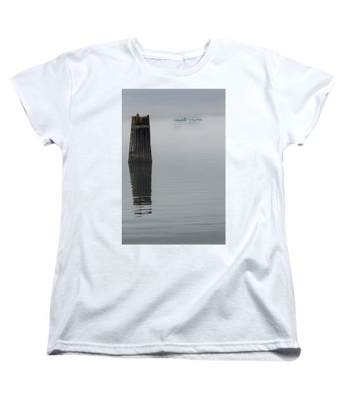 Ferry Hiding In The Fog Women's T-Shirt (Standard Cut) by Tony Locke