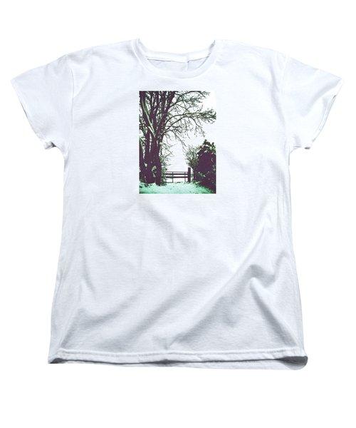 Field Gate Women's T-Shirt (Standard Cut) by Anne Kotan