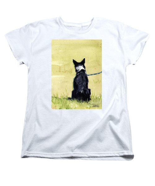 Women's T-Shirt (Standard Cut) featuring the painting Field Greens by Molly Poole