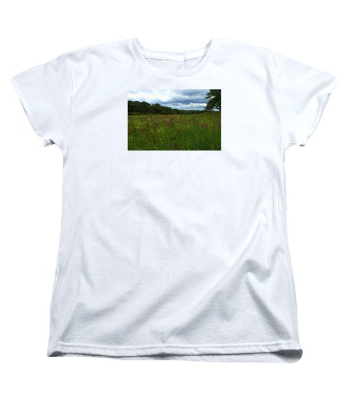 Women's T-Shirt (Standard Cut) featuring the photograph Field Of Color by Bruce Carpenter