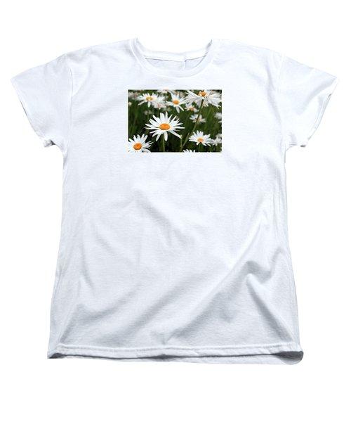 Field Of Daisies Women's T-Shirt (Standard Cut) by Dorothy Cunningham