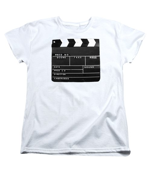 Film Movie Video Production Clapper Board  Women's T-Shirt (Standard Cut) by Tom Conway