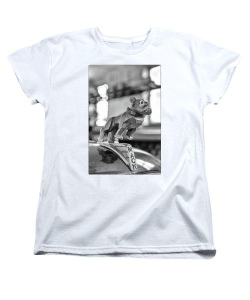 Women's T-Shirt (Standard Cut) featuring the photograph Fire Truck Hood Ornament by Patricia Schaefer