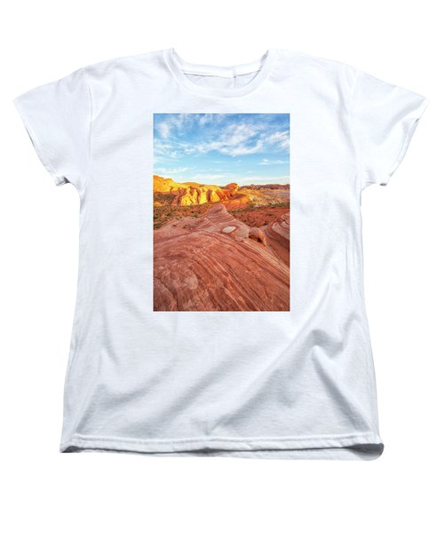 Fire Wave In Vertical Women's T-Shirt (Standard Cut) by Joseph S Giacalone