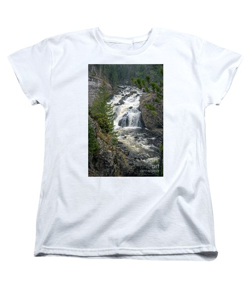 Firehole Falls Women's T-Shirt (Standard Cut) by Cindy Murphy - NightVisions