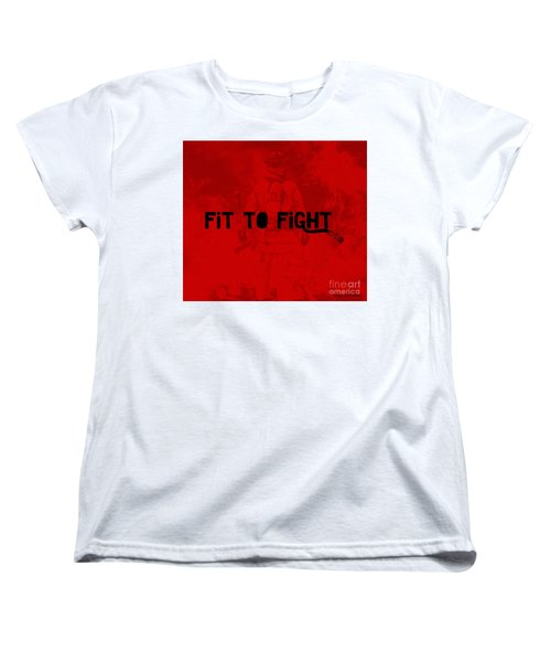 Fireman In Red Women's T-Shirt (Standard Cut) by Megan Dirsa-DuBois