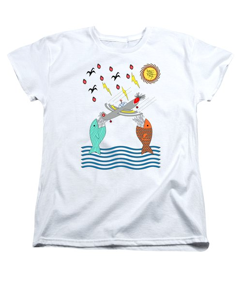 Fish Food Women's T-Shirt (Standard Cut) by Methune Hively