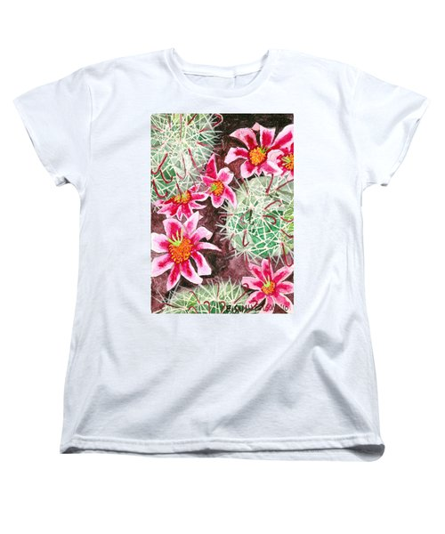 Women's T-Shirt (Standard Cut) featuring the painting Fishhook Beauty by Eric Samuelson