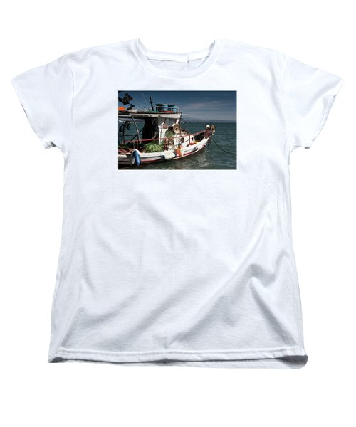 Women's T-Shirt (Standard Cut) featuring the photograph Fishing by Bruno Spagnolo