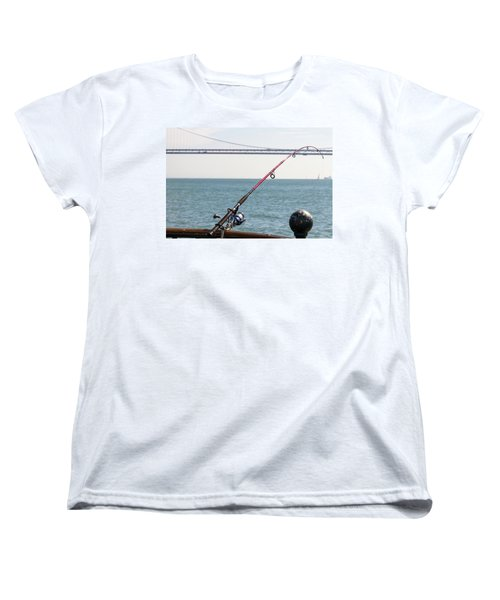 Fishing Rod On The Pier In San Francisco Bay Women's T-Shirt (Standard Fit)