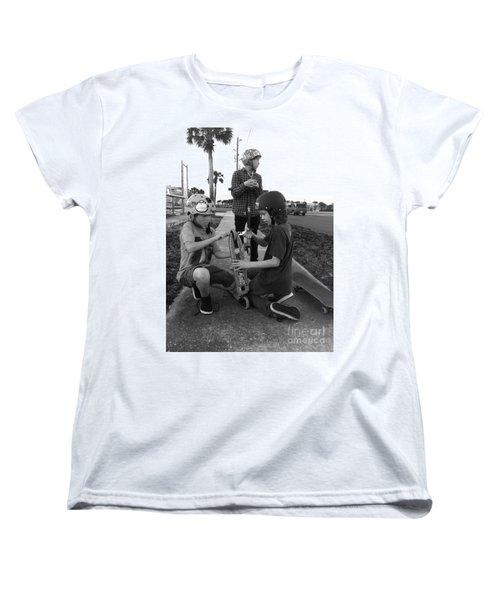 Fixing A Skooter Women's T-Shirt (Standard Cut) by WaLdEmAr BoRrErO