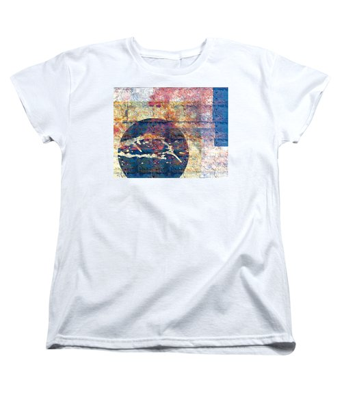 Women's T-Shirt (Standard Cut) featuring the digital art Flag by Gabrielle Schertz