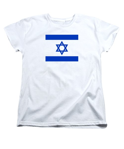 Flag Of Israel Authentic Version Women's T-Shirt (Standard Cut) by Bruce Stanfield