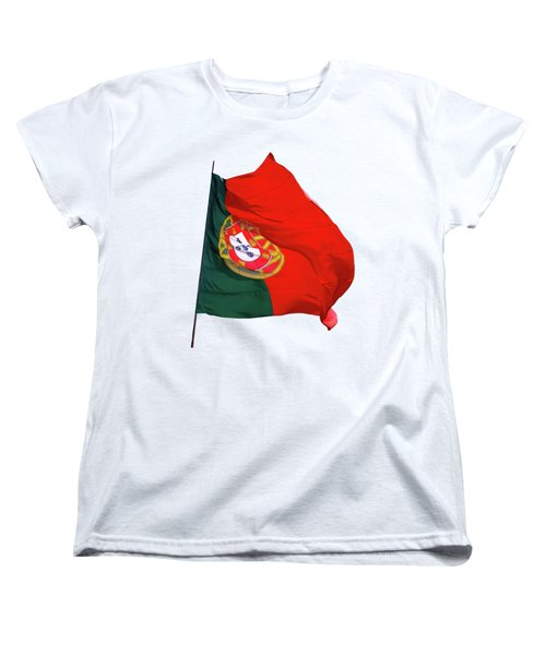 Flag Of Portugal Women's T-Shirt (Standard Cut) by Menega Sabidussi