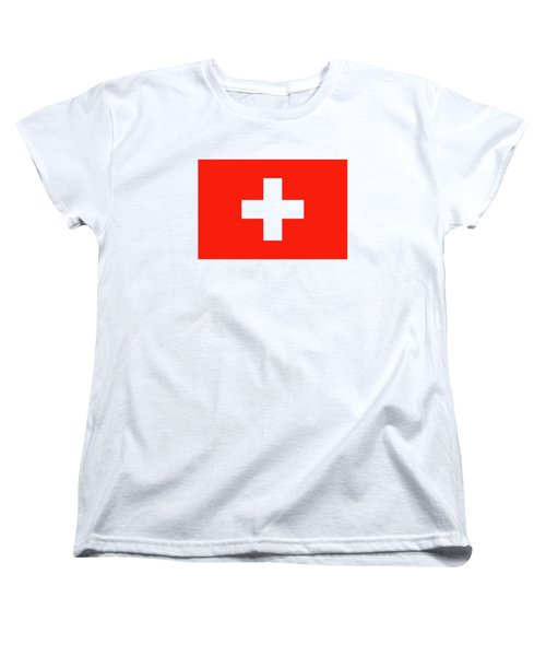 Flag Of Switzerland Women's T-Shirt (Standard Cut) by Bruce Stanfield
