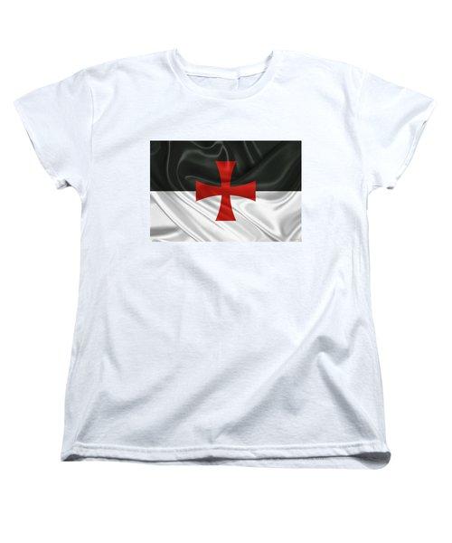 Flag Of The Knights Templar Women's T-Shirt (Standard Cut) by Serge Averbukh