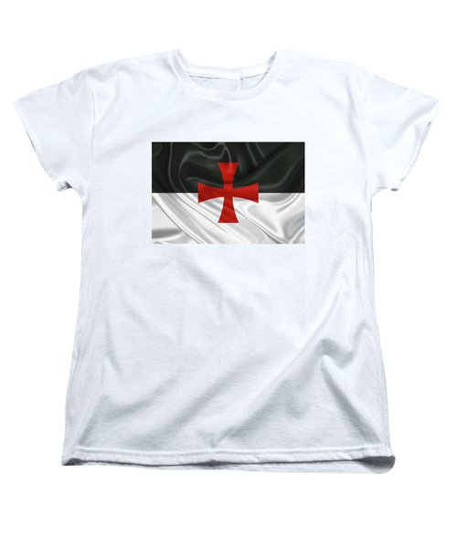 Flag Of The Knights Templar Women's T-Shirt (Standard Fit)