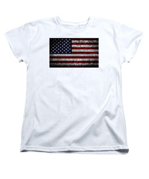 Flag Of The United States Women's T-Shirt (Standard Cut) by Martin Capek