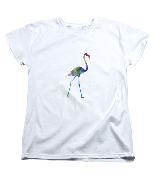 Flamingo 01 In Watercolor Women's T-Shirt (Standard Cut) by Pablo Romero