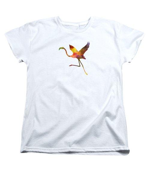 Flamingo 02 In Watercolor Women's T-Shirt (Standard Cut)