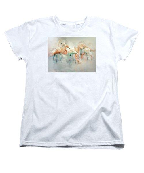Flamingo Fantasy Women's T-Shirt (Standard Cut) by Brian Tarr