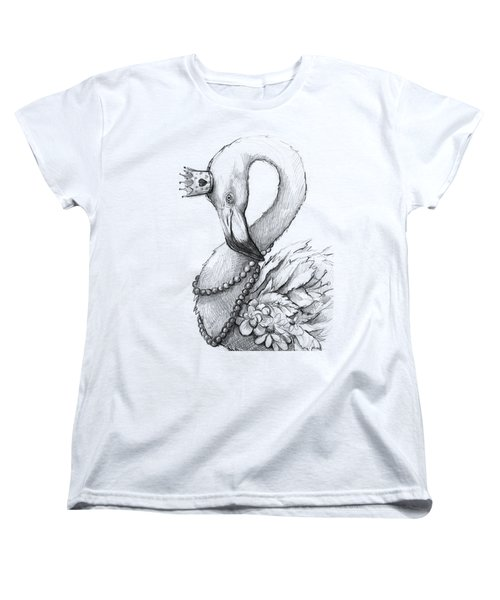 Flamingo In Pearl Necklace Women's T-Shirt (Standard Fit)