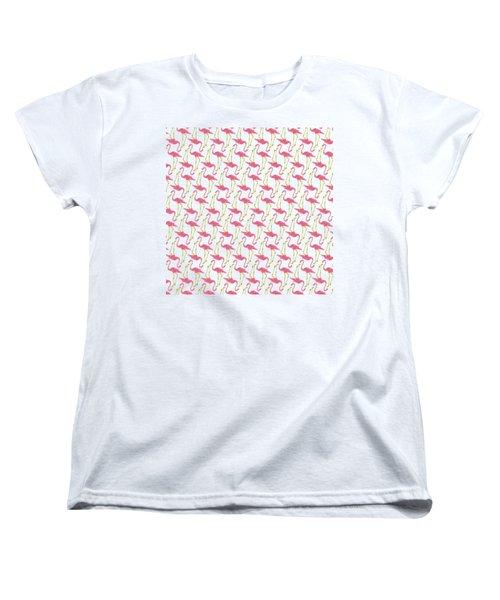 Flamingo Print Women's T-Shirt (Standard Fit)