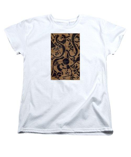 Flipside 1 Panel D Women's T-Shirt (Standard Cut) by Joseph A Langley