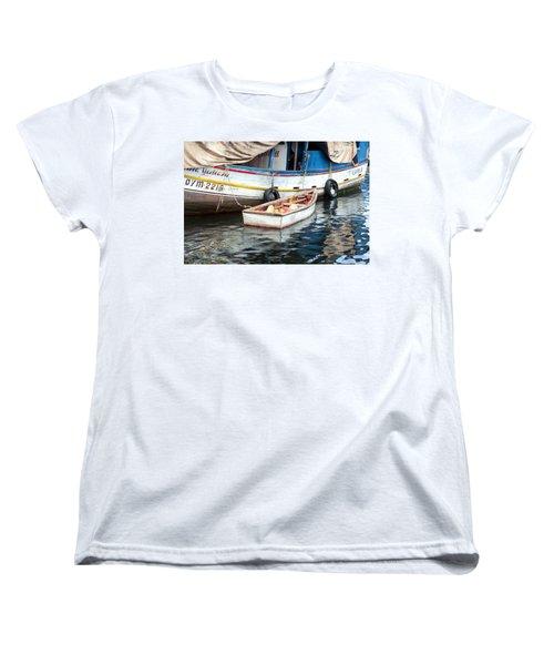 Floating Market Women's T-Shirt (Standard Cut) by Allen Carroll