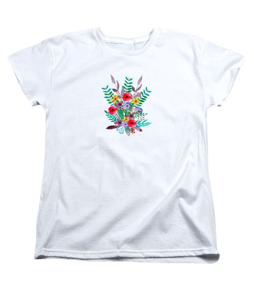 Floral Bouquet Women's T-Shirt (Standard Cut) by Amanda Lakey