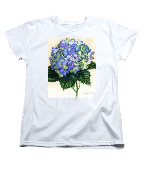 Women's T-Shirt (Standard Cut) featuring the painting Floral Favorite by Barbara Jewell
