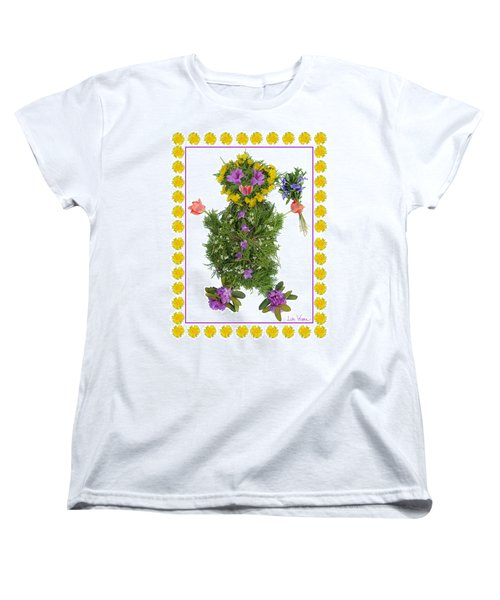 Flower Baby Women's T-Shirt (Standard Cut) by Lise Winne