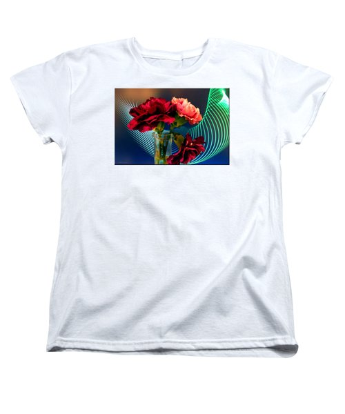 Flower Decor Women's T-Shirt (Standard Cut) by Mikki Cucuzzo