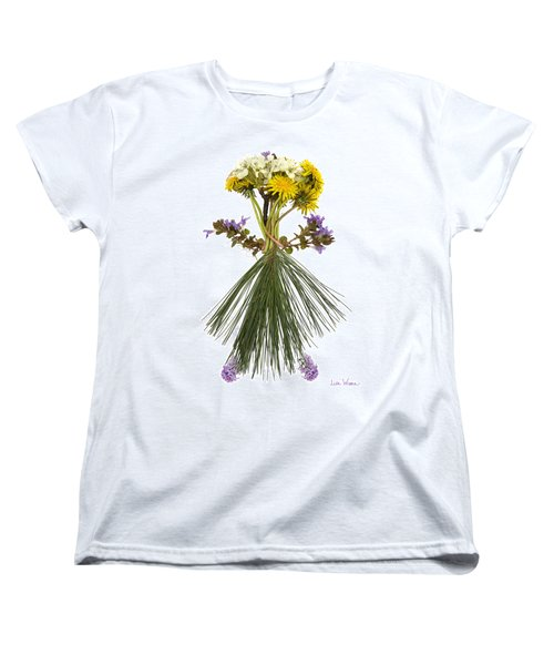 Flower Head Women's T-Shirt (Standard Cut) by Lise Winne