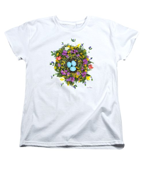 Flower Nest Women's T-Shirt (Standard Cut) by Lise Winne