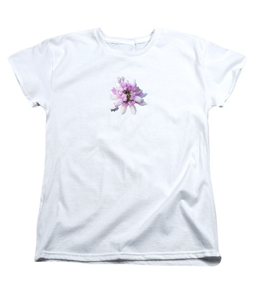 Women's T-Shirt (Standard Cut) featuring the photograph Flower Securigera Varia 2 by Mike Breau