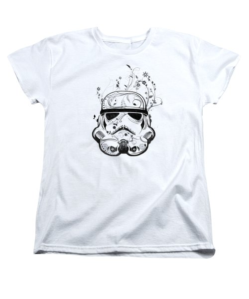 Women's T-Shirt (Standard Cut) featuring the digital art Flower Trooper by Nicklas Gustafsson