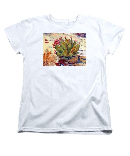 Flowering Opuntia Women's T-Shirt (Standard Cut) by Donald Maier