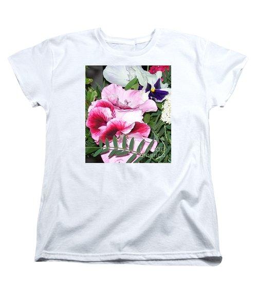 Women's T-Shirt (Standard Cut) featuring the photograph Flowers From The Heart by Jolanta Anna Karolska