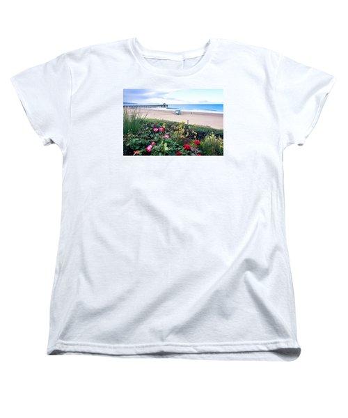 Flowers Of Manhattan Beach Women's T-Shirt (Standard Cut) by Art Block Collections