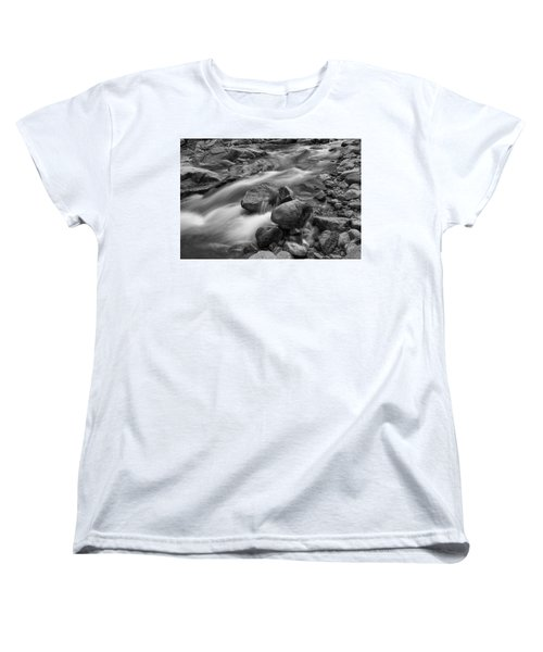 Women's T-Shirt (Standard Cut) featuring the photograph Flowing Rocks by James BO Insogna