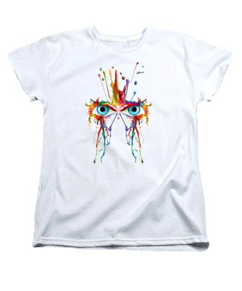 Fluid Abstract Eyes Women's T-Shirt (Standard Cut) by Robert G Kernodle