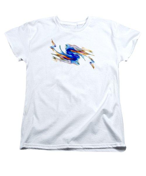 Fluid Colors Women's T-Shirt (Standard Cut) by Fran Riley