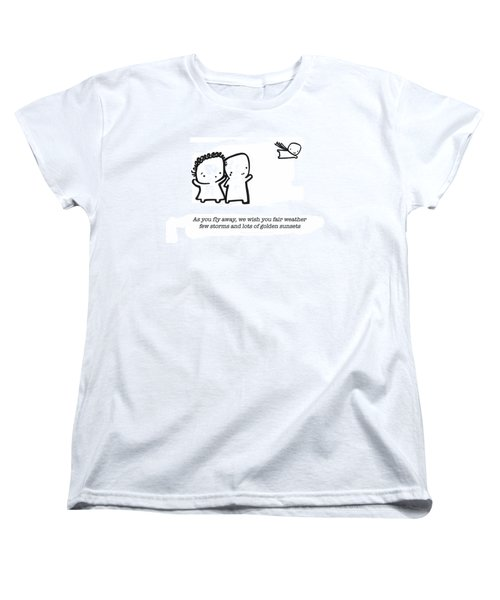 Women's T-Shirt (Standard Cut) featuring the drawing Fly Away by Leanne Wilkes
