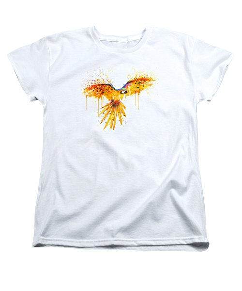 Flying Parrot Watercolor Women's T-Shirt (Standard Cut) by Marian Voicu