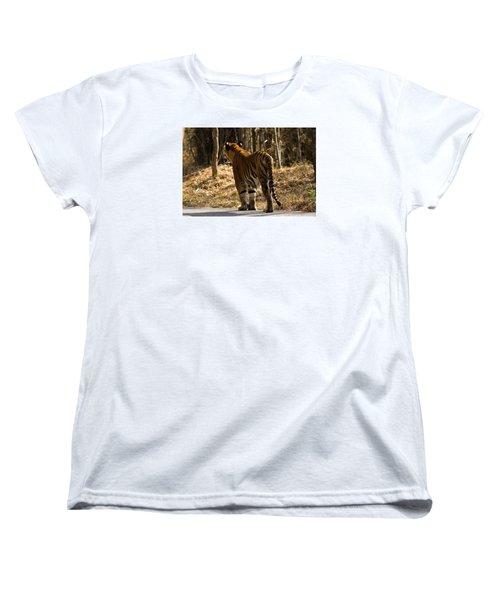 Women's T-Shirt (Standard Cut) featuring the photograph Focused by Ramabhadran Thirupattur